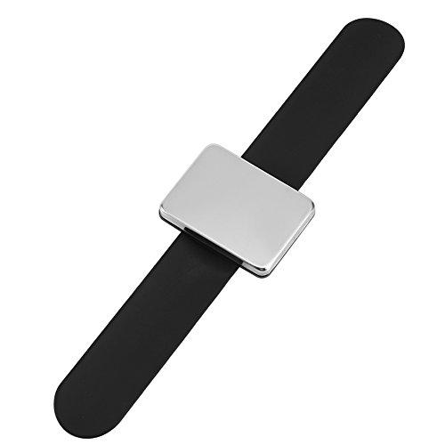 Bande de poignet magnétique, bracelet, bracelet en épingle à cheveux, support de poignée de cheveux, accessoire de coiffure, accessoires de coiffure, broches et clips(Noir)