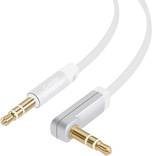 Cable auxiliar de audio plano estéreo de 3,5mm, de CableCreation,...