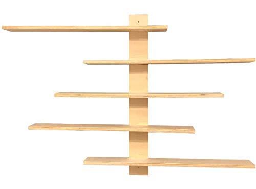 Estantería de Diseño Variable Ideal Presentación y Muestra de Colección Coches Figuras Acción Decoración para el Hogar y Habitación Estantes Flotantes de Exhibición Expositor Medidas: 50x50-85cm.