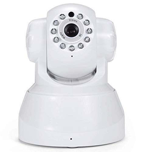 Lamp love Webcam 1 UNIDS HD Cámara de Seguridad IP para Casa WiFi Cámara de Vigilancia CCTV con Visión Nocturna Inalámbrica con Ranura TF Voz de Dos vías Equipo De Monitoreo (Color : White)