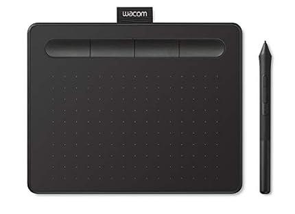 Wacom Intuos S Tableta Gráfica – Tableta Gráfica Portátil para pintar, dibujar, editar photos con 1 software creativo incluido para descargar, óptima para la educación en línea y el teletrabajo, negra