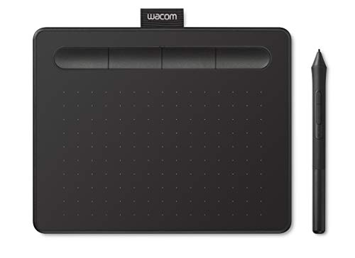 Wacom Intuos S Tableta Gráfica Negra – Tableta Gráfica Portátil para pintar, dibujar y editar photos con 1 software creativo incluydo para descargar*, compatible con Windows & Mac
