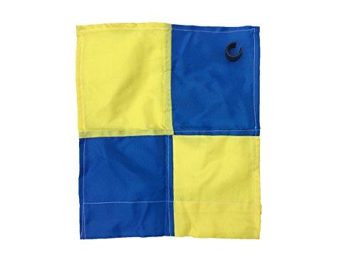 Bandierina per angolo del campo, con paletto da 25mm con clip, Blue / Yellow Chequered