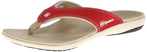 Spenco Women's Yumi Sandal, True Red, 10 M