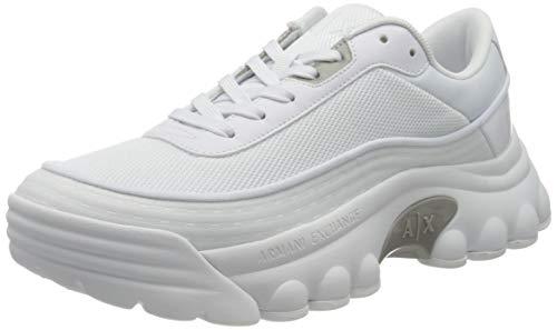 Armani Exchange Vancouver Chunky Sneaker, Zapatillas Hombre, Color Blanco, 40 EU