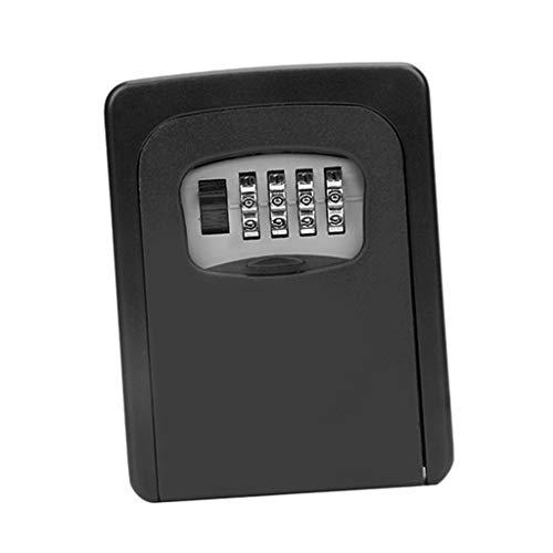 Schlüsseltresor, Wandmontage Schlüsselsafe Schlüsselbox mit 4-stelligem Zahlencode für Häuser, Büros, Fabriken Schlüssel-Hohe Sicherheit - Schwarz
