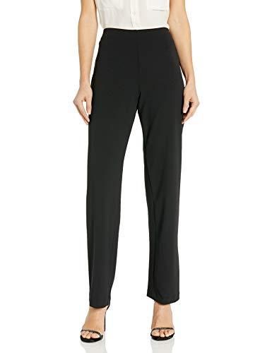 Alex Evenings Damen Dress Pants (Petite and Regular) Anzughose, Schwarzer Krepp, schmale Beine, Large Zierlich