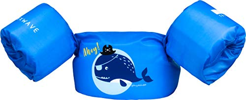 NEXWAVE Kids Life Jacket 30-50 Pounds for Boys Toddles, Floatie up to 50 lbs, Baby Float for Pool/Puddle/Sea Beach Playing and Jumpers (Blue - Pirate Whale)