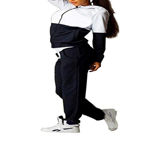 NHFGF Herbst/Winter-Sportanzug für Damen, Wein-Pullover, Oberteil, Shirts, Lauf-Set, Jogginganzug, Jogginganzug, Jogginghose, Sportswear Gr. S, Schwarz