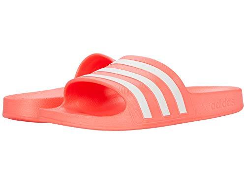 adidas Women's Adilette Aqua Water Shoe, Signal Pink/White/Signal Pink, 8