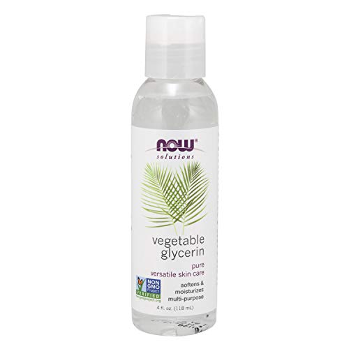 NOW Solutions, Vegetable Glycerin, 100% Pure, Versatile Skin Care, Softening and Moisturizing, 4-Ounce
