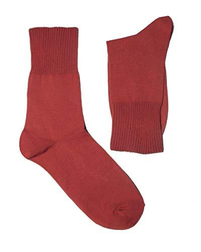 Weri Spezials Herren Ges&heits Socken Baumwolle Diabetiker mit dem weichen Rand ohne Gummi (43-46, Bratapfel)