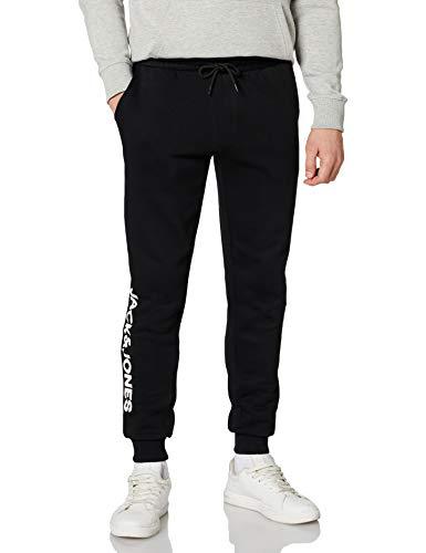 JACK & JONES Herren JJIGORDON Side Soft Sweat Pants Hose, Black, L