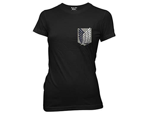 Ripple Junction Attack On Titan Survey Corps Juniors T-Shirt Medium Black