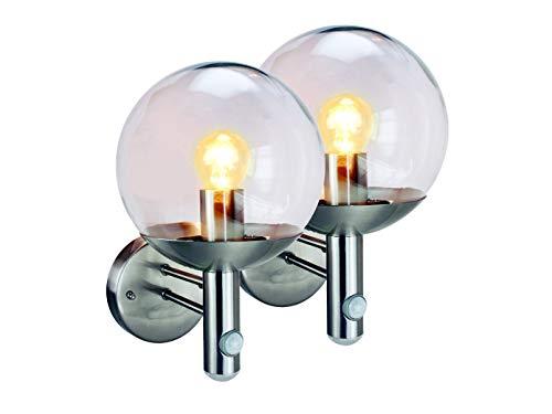 Set van 2 Elro RVS46LA buitenlampen met bewegingsmelder