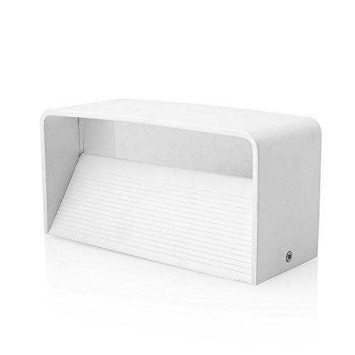 ETiME Wandleuchte LED Wandlampe Aluminum Flurlampe Deckenleuchte Up und Down Design Warmweiß (12W Rechteck)