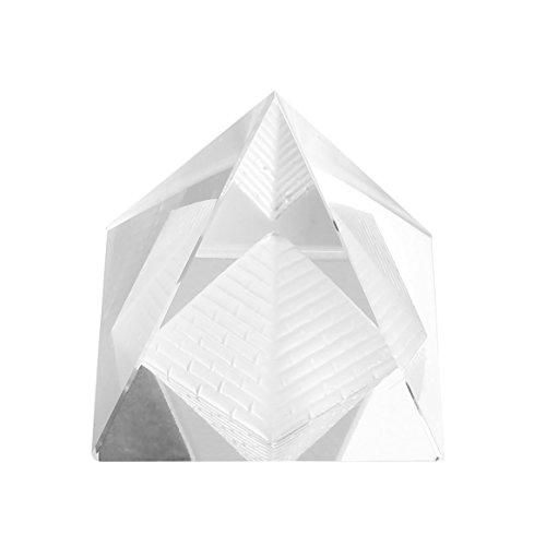 Delicacydex Mode Artificielle Égyptienne Clair K9 Cristal Quartz Pyramide À La Maison Bureau Bureau Décoration Merveilleux Ornement Cadeau pour Les Amis