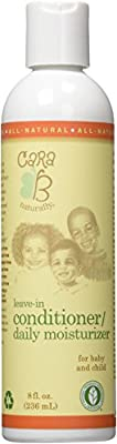 CARA B Naturally Leave-In Conditioner and Daily Moisturizer For Babies and Kids Textured, Curly Hair – Sensitive Skin, Eczema-Friendly Formula – No Parabens, Sulfates, Phthalates – 8 Ounces