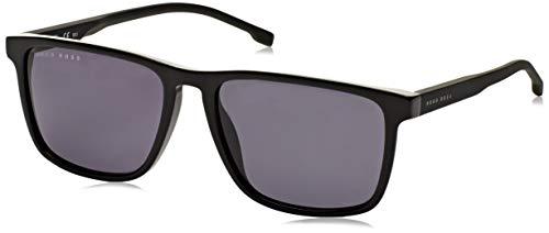 Hugo Boss Herren BOSS 0921/S IR 807 55 Sonnenbrille, Schwarz (Black/Gym Grey)