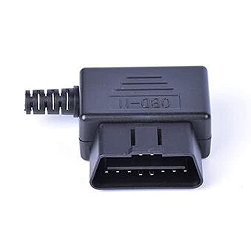 RuYunLong Herramienta de diagnóstico de automóvil OBD Enchufe Masculino 16pin OBD2 Conector OBD 2 16 Pin OBD II Adaptador OBDII J1962 Conector (Color : Red)