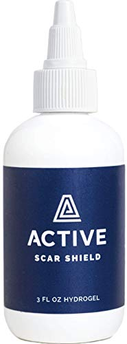 Active Scar Shield Hydrogel - Scar Treatment for Cuts, Scrapes, Burns and Other Wounds to Stop Scars BEFORE They Form - Doctor Recommended, Natural and Non-Toxic Scar Prevention Gel (3 oz Gel)