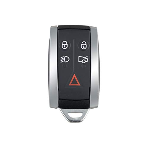 Mini Funda de Llave remota para Jaguar X Type S Xkr Xf Xk Funda de Llavero Inteligente de 5 Botones con Funda de Llavero Inteligente (Color: Negro)