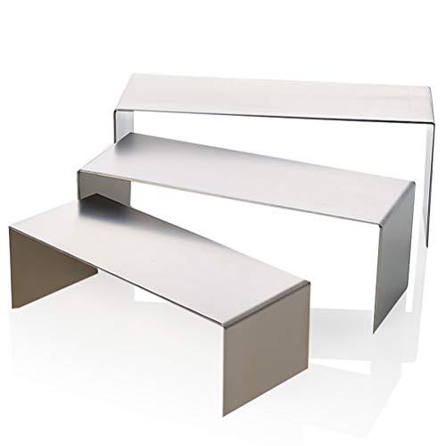 GFPR 3er Set Display-ständer/Dekopodest/U-Ständer/Dekowinkel/rostfreier Stahl/Schmuck, Brieftasche, Brille Präsentationsständer