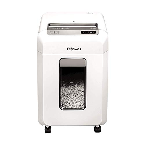 Fellowes Powershred 12MS - Mini destructora de documentos, 12 hojas, para pequeñas...