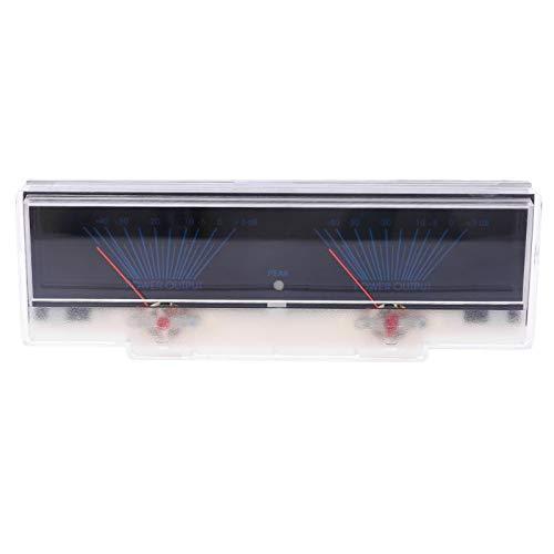 Nrpfell VU Meter Pannello Amplificatore di Potenza Audio Doppio Misuratore di Livello Analogico Db con Retroilluminazione