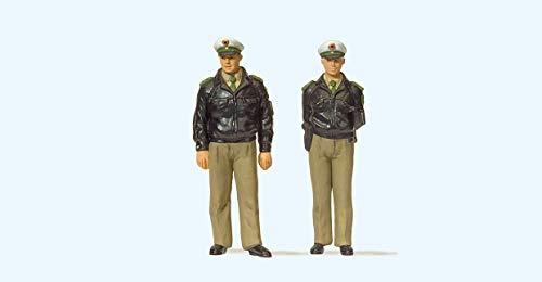 Preiser 65363 Polizisten stehend Grüne Uniform
