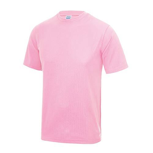 AWDis Just Cool Hombre Camiseta Poliéster Gimnasio/Deportes/Camiseta para Correr - Bebé Rosa...