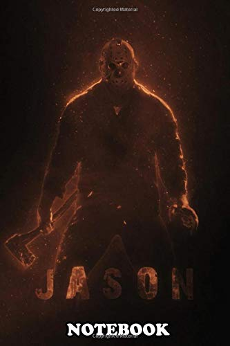Notebook: Jason Voorhees From Friday The 13th Franchise , Journal for Writing, College Ruled Size 6' x 9', 110 Pages
