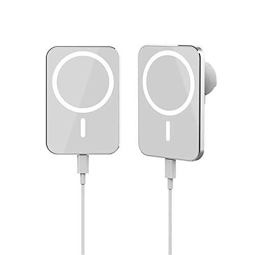 Soporte para cargador de coche inalámbrico de 15 W con soporte magnético para iPhone 12/12 Pro Max / 12Mini, cargador inalámbrico de carga rápida Magsafe