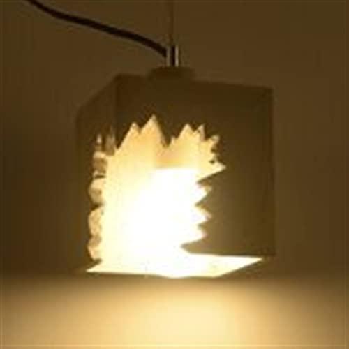 Forma cuadrada Arte Lámpara colgante Restaurante decorativo Creativo Pequeño Droplight Ajustable Simple Techo Moderno Lámpara Colgante Inicio Iluminación Hallway Araña