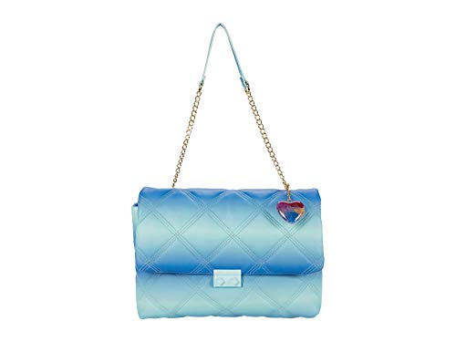 Betsey Johnson Ciara Quilted Shoulder Bag Blue Multi One Size