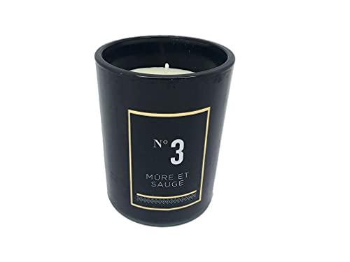 Ducomi Velas perfumadas en tarro de cristal – Idea regalo para tu casa – Perfume intenso y duradero (210 g, mora y salvia)