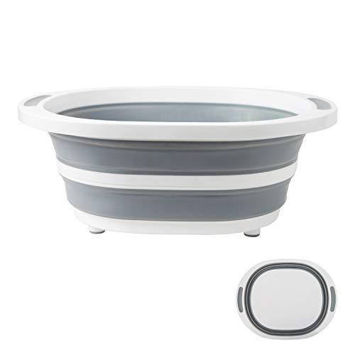 NEKOU 折りたたみ 洗い桶 まな板 両用 洗面器 釣り用バケツ シリコン 料理 キッチン シンク 大容量 軽量 無臭
