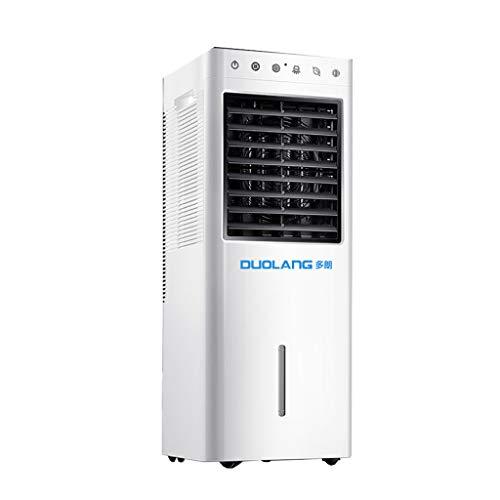 Clocks Aire Acondicionado Portátil Multifuncional Climatizador Evaporativo con Ruedas y Control Remoto Casa/Oficina 3 Velocidades 28 × 25 × 74cm