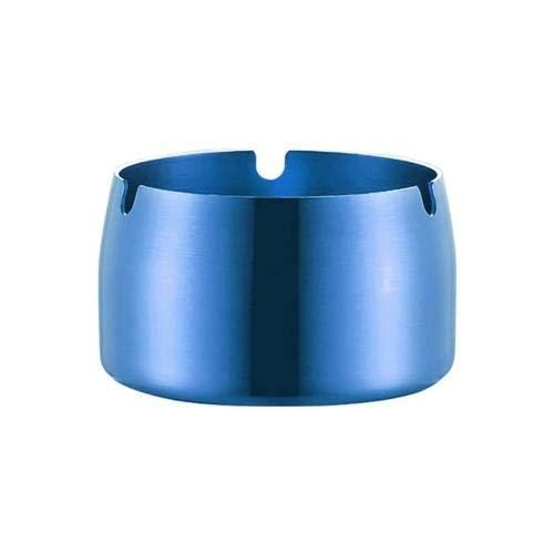 LLK 1 PC Redonda Duradera Cubierta de Ceniza de Ceniza de Acero Inoxidable Resistente a Alta Temperatura Resistente a los ceniceros de Tapa Taza de Tabaco para el Soporte de Ceniza de Escritorio