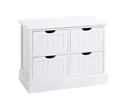 HAKU Möbel Kommode, weiß, T 30 x B 56 x H 45 cm