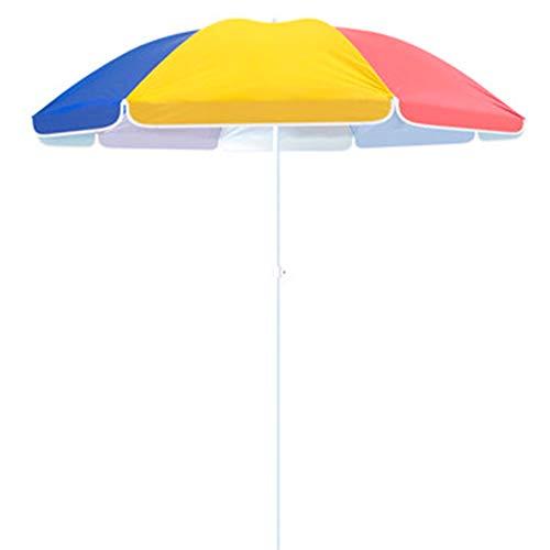ACXZ Sombrillas de jardín de 1,9 m, sombrilla de Patio, sombrilla de Playa arcoíris para terraza, césped, Patio Trasero, Junto a la Piscina, Mercado Mesa Paraguas al Aire Libre sin Base