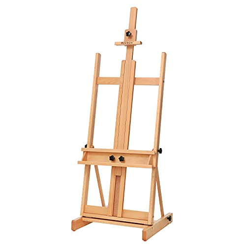 MEEDEN Classic Artist Easel,H-Frame Easel in Solid Beechwood,Sturdy Studio...