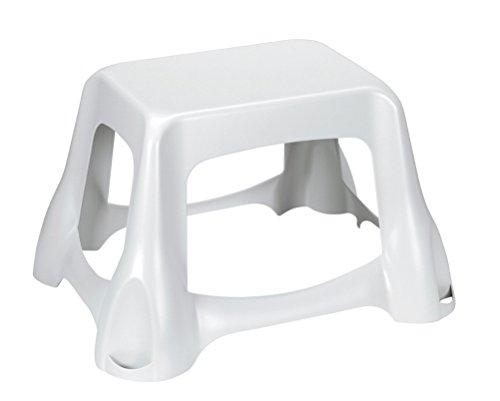 CURVER Trittschemel mittelhoch in weiß, Polypropylen, 35 x 25 x 10 cm