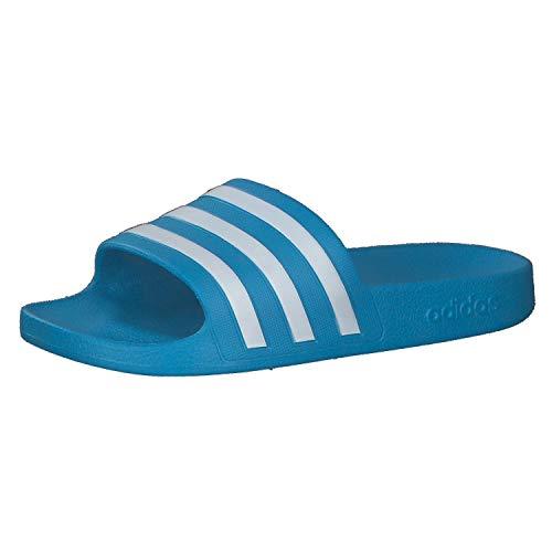 adidas Adilette Aqua, Slide Sandal Unisex Adulto, Solar Blue/Footwear White/Solar Blue, 38 EU
