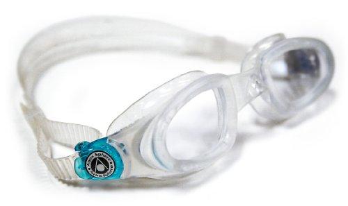 Aqua Sphere Unisex– Erwachsene Mako Schwimmbrille, Klare Gläser-Transparent/Aqua, One Size