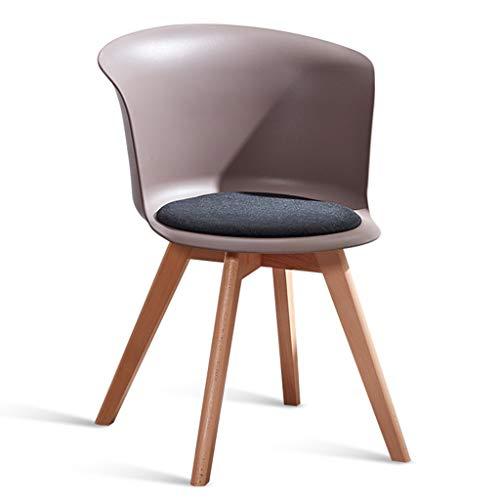 Sedia da Pranzo per la casa Sedia da scrivania Semplice Sgabello con Schienale in Legno massello Sedia per Il Tempo Libero per Cucina (Color : Brown, Size : 44 * 44 * 75cm)