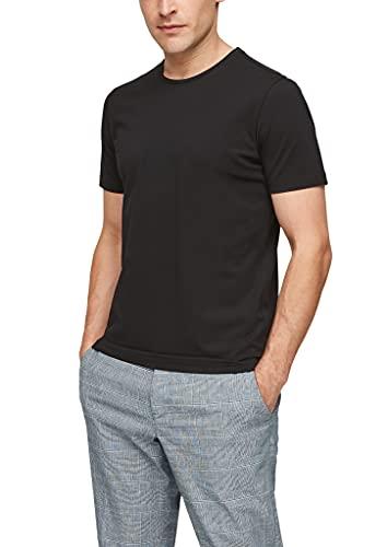 s.Oliver BLACK LABEL Herren T-Shirt aus Baumwollpiqué black M