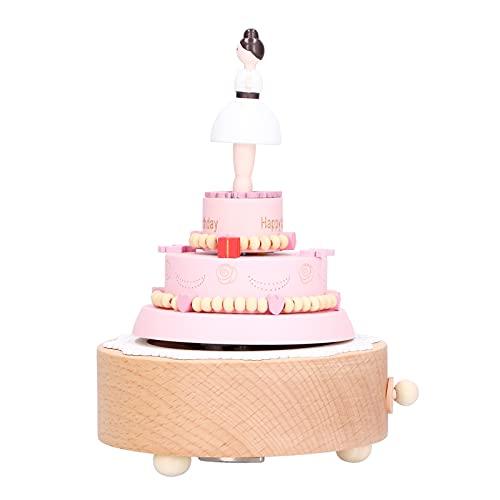 Caja De Música De Madera Para Niña De Ballet, Caja De Música Para Pastel De Cumpleaños Elegante Para Dormitorio Para Sala De Estar