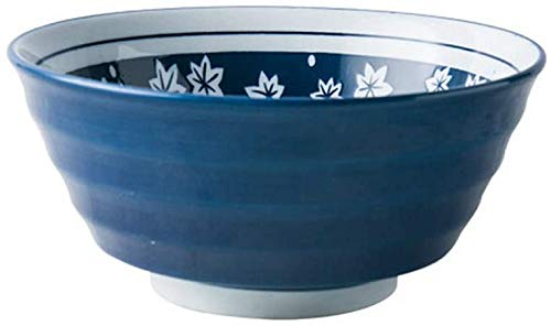 Shade Cloth SLZFLSSHPK Cuenco para Sopa ENSALADERAS Bowl cerámica de Gran Capacidad Ramen Bowl Restaurant Soup Bowl Noodle Bowl de Hogares 18X8.5CM (Color : Maple)