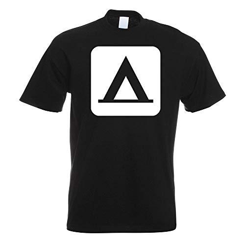 Kiwistar - Zelten Camping Piktogramme T-Shirt in 15 Herren Funshirt Bedruckt Design Sprüche Spruch Motive Oberteil Baumwolle Print Größe S M L XL XXL